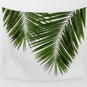 Society 6 Palm Leaf II Wall Tapestry